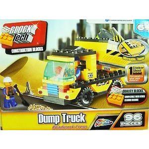 Block Tech Dump Truck Roadwork Crew 96-Pc Construction Block Set ブロック おもちゃ