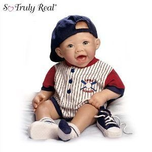Bonnie Chyle Michael The Little Slugger So Truly Real Lifelike Baby Doll by Ashton Drake ドール 人