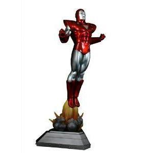 Bowen Designs Iron Man (アイアンマン) Painted Statue (銀 Centurion Version) フィギュア おもち