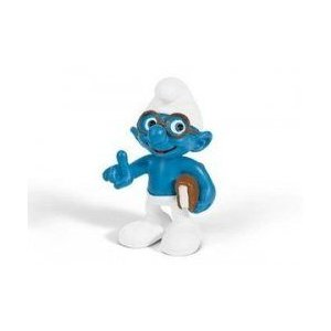 Brainy Smurf with Book ~2 ミニフィギュア in a Gift Bag: シュライヒ Mini フィギュア Serie 131002fnp