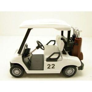 Brand New 5 inch ダイキャスト metal Golf Club Cart model caddy car with club ミニカー ミニチュア