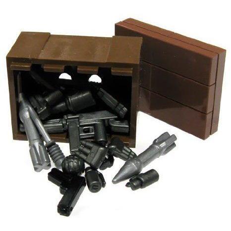 BrickArms LEGO (レゴ) Custom Supply Crate Guns, Ammo, Grenades More! ブロック おもちゃ