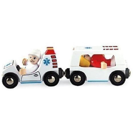BRIO Light and Sound Ambulance ミニカー ミニチュア 模型 プレイセット自動車 ダイキャスト