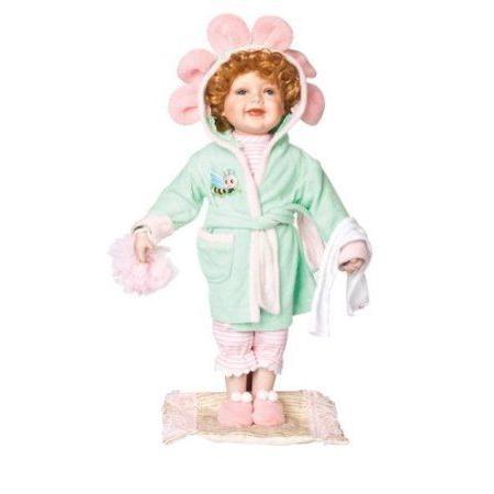 CARRIE 18 Porcelain Toddler w/Robe Doll By ゴールドen Keepsakes ドール 人形 フィギュア