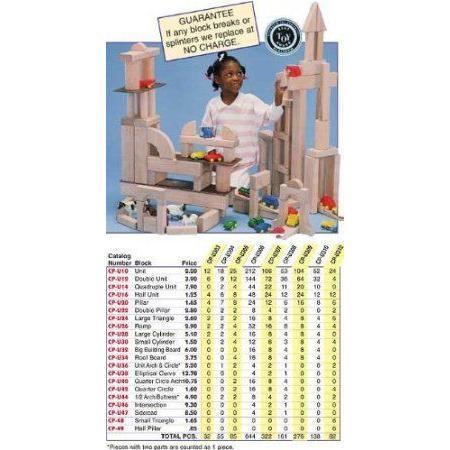 Children's Wood Unit Blocks- Nursery Set ブロック おもちゃ