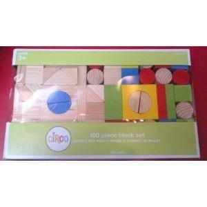 Circo 100 Piece Wood Block Set ブロック おもちゃ