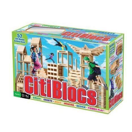 CITIBLOCS Original Wooden Building Block Set - 52 Piece ブロック おもちゃ