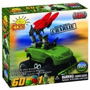 COBI Small Army Charlie 自動車 車, 60 Piece Set ブロック おもちゃ