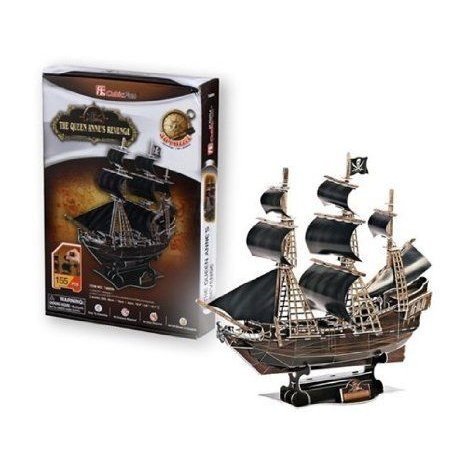 Cubic Fun 155-Piece Queen Anne's Revenge Paper 3D Jigsaw Puzzle ブロック おもちゃ