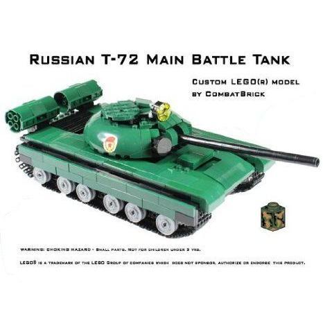 Custom Army Builder Model Kit - Russian T-72 Main Battle Tank ブロック おもちゃ