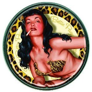 Dark Horse Deluxe Bettie Page ゴールドen Leopard Round Belt Buckle フィギュア おもちゃ 人形