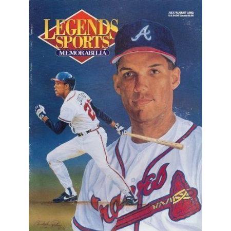 Dave Justice Braves Baseball Legends Magazine ドール 人形 フィギュア