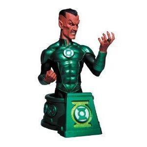 DC Collectibles 黒est Night Sinestro as 緑 Lantern (グリーンランタン) Bust フィギュア おもち