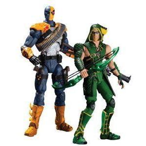DC Collectibles Injustice Deathstroke vs. 緑 Arrow アクションフィギュア 人形, 2-Pack フィギュア
