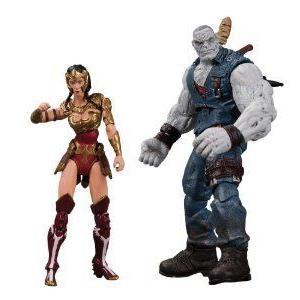 DC Collectibles Injustice Wonder Woman vs. Solomon Grundy アクションフィギュア 人形, 2-Pack フィギ