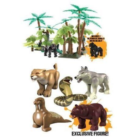 DEADLY 60 BUNDLE - Jungle Playset & Deadly 60 Micro フィギュアs - Bear, Lioness, Cobra, Wolf, Walr