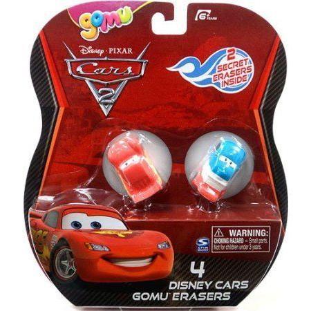 Disney (ディズニー) / Pixar (ピクサー) CARS (カーズ) 2 Movie Gomu Eraser 4Pack Lightning McQueen R