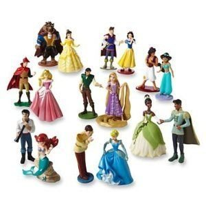 Disney (ディズニー) Deluxe Figurine Playset ~ 16 piece ~ Princess with their Princes