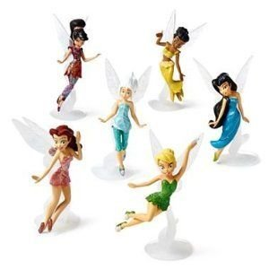 Disney (ディズニー) Fairies Figurine Playset ~ 6 piece ~ Tinkerbell (ティンカーベル) & Friends