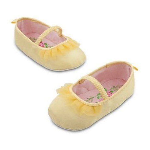 DISNEY bABY girl beauty & the beast belle slipper Shoes SIZE 12-18 MONTHS フィギュア おもちゃ 人形