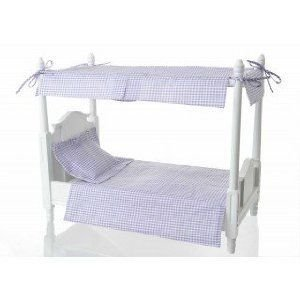 Doll Canopy Bed with Lavender Linens ドール 人形 フィギュア