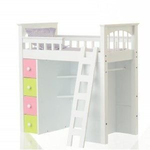 Doll Loft Bed with Lavender Linens ドール 人形 フィギュア