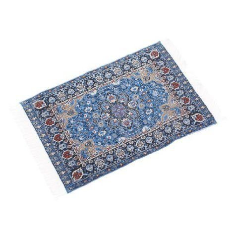 Dollhouse (ドールハウス) Miniature Embroide赤 Carpet 6 1/2 x 3 7/8