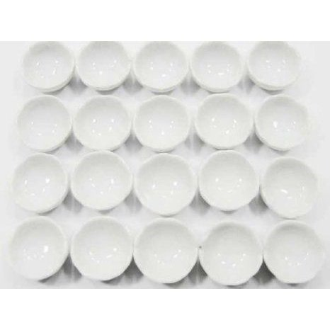 Dolls House Miniature Ceramic China Kitchen Dinner 20 白い Bowl Set 6640 ドール 人形 フィギュア
