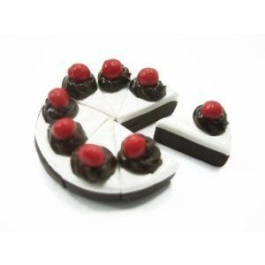 Dolls House Miniature Food Chocolate Slice Cake 8 Cuts Slices Jewelry 10337 ドール 人形 フィギュア