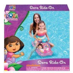 Dora the Explorer Toddler Kids Inflatable Ride-on Float Car - Swim Raft, Pool, Beach フィギュア お