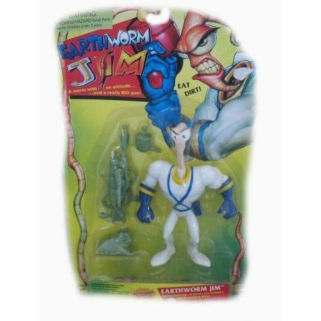 Earthworm Jim, A Worm with An Attitude, Action Figure フィギュア ダイキャスト 人形