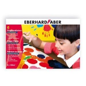 Eberhard Faber 100ml Finger Paint (6 Colours) フィギュア おもちゃ 人形
