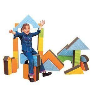 Edushape 5 Jumbo Textu赤 Blocks, Set of 16 toys ブロック おもちゃ