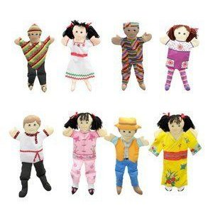 ETHNIC PUPPETS - SET OF 8-Childrens Factory ドール 人形 フィギュア