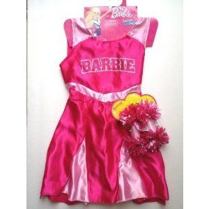 Exclusive Barbie(バービー) ピンク Cheerleader Dress with Bonus Pompoms Size 4-6X ドール 人形 フィギ
