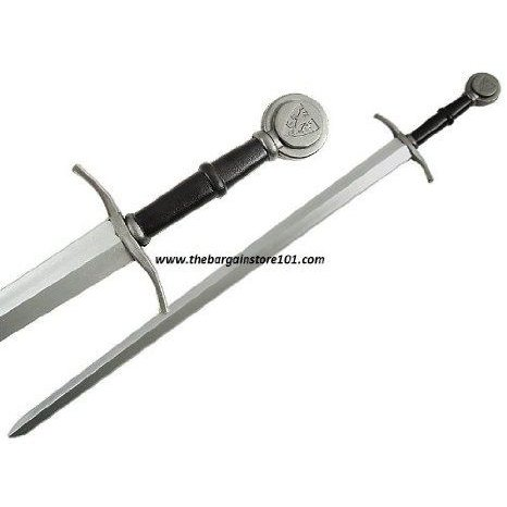 Extra long a hand & a half 46 Foam Padded Crusader Medieval Excalibur LARP Long sword Great for Ki