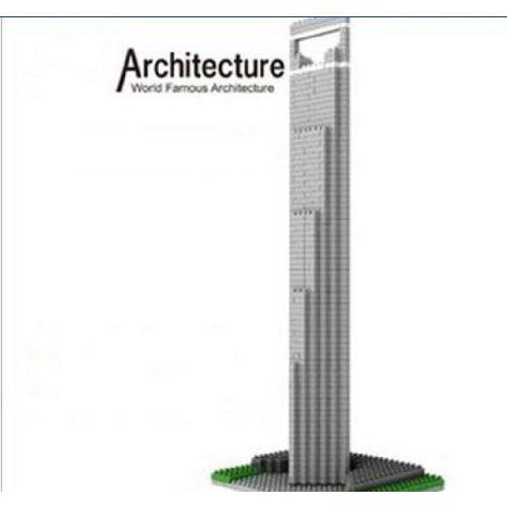 Famous Architecture SWFC Shanghai Blocks Building Puzzle 1170 ピース Xmas Gift ブロック おもちゃ