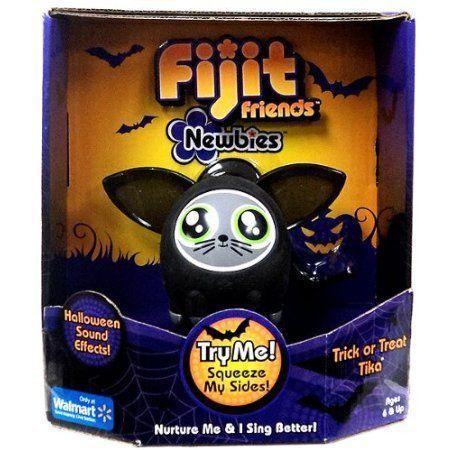 Fijit Friends Newbies Halloween CAT フィギュア 人形 黒 TRICK or TREAT TIKA - LIMITED EDITION!