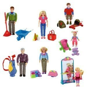 Fisher Price (フィッシャープライス) Loving Family Caucasian フィギュア 人形: Grandpa, Grandma, Dad