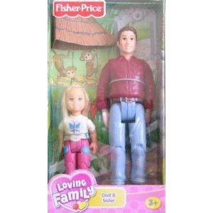Fisher Price (フィッシャープライス) Loving Family Dollhouse (ドールハウス) Figures: Dad & Sister