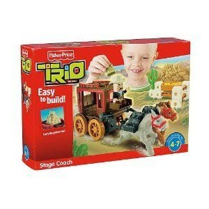Fisher Price (フィッシャープライス) Trio Stage Coach Building Set ブロック おもちゃ