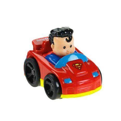 Fisher Price Little People DC Super Friends Wheelies Superman ミニカー ミニチュア 模型 プレイセッ