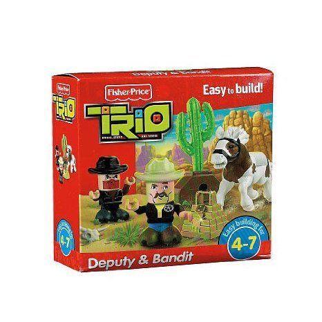 Fisher-Price (フィッシャープライス) TRIO Deputy & Bandit Building Set