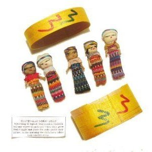 Five Large Worry Dolls in a Box ドール 人形 フィギュア