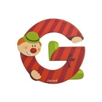 G - Janod Juratoys Clown Alphabet Individual Letter