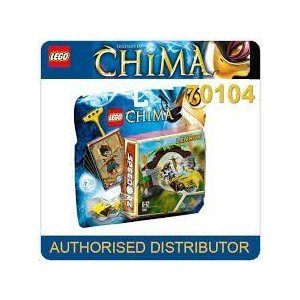 Game / Play LEGO (レゴ) Chima Jungle Gates 70104, Includes Lennox ミニフィギュア 人形 with 2 weapo