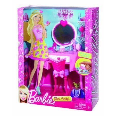 Game/Play Barbie(バービー) Glam Vanity Furniture Set Kid/Child ドール 人形 フィギュア
