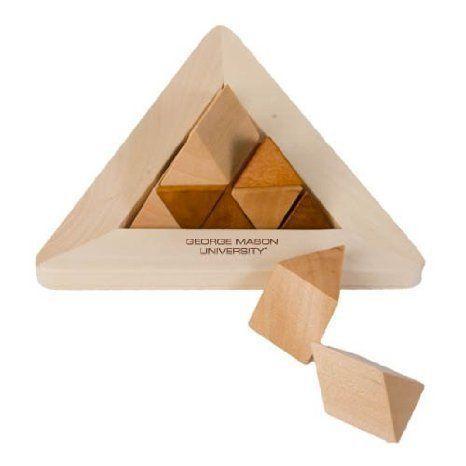 George Mason Perplexia Master Pyramid 'George Mason University Engraved' ブロック おもちゃ