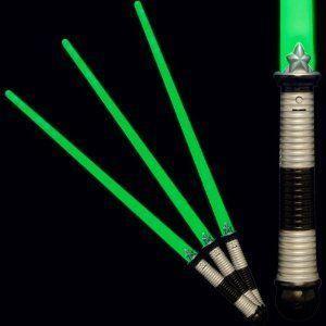 緑 LED Light Up Saber Space Weapon (3-Pack) フィギュア おもちゃ 人形