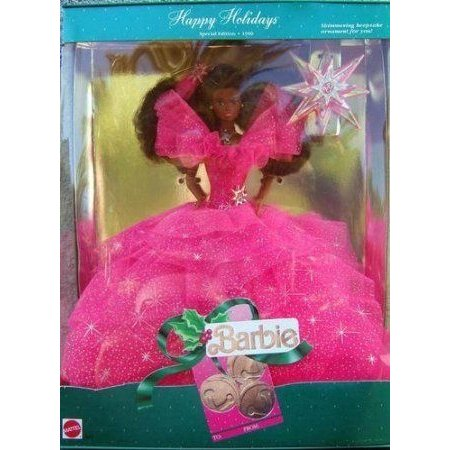 Happy Holidays Special Edition 1990 African American Barbie(バービー) Doll ドール 人形 フィギュア
